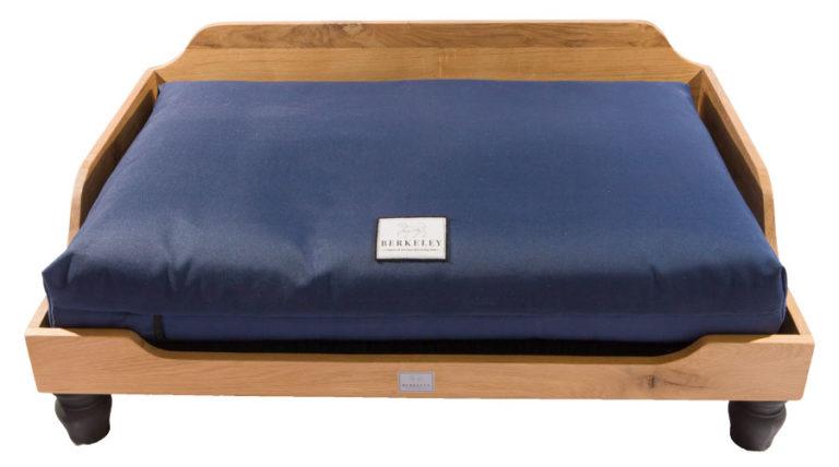 Berkeley raised wooden dog bed-1