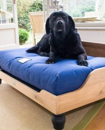 Berkeley Raised Wooden Oak Dog Bed