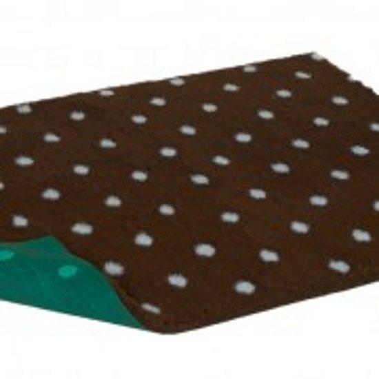 petlife vetbed original brown blue dots